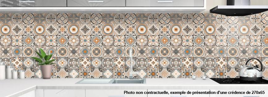 Credence plexiglas pour cuisine carreaux de ciment 2 - Credence cuisine en carreaux de ciment ...