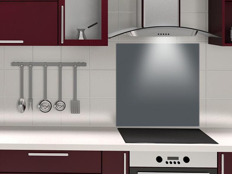 fond de hotte sur mesure gris carbone. Black Bedroom Furniture Sets. Home Design Ideas