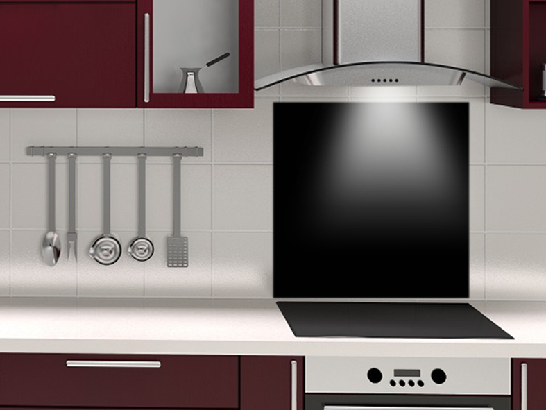fond de hotte sur mesure noir. Black Bedroom Furniture Sets. Home Design Ideas