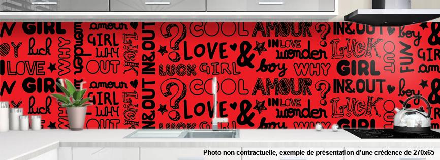 Credence decorative pour cuisine motif graphic 2 - Credence decorative cuisine ...