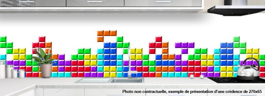 Cr dence pour cuisine decoration tetris 2 - Credence design impression ...