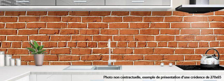 Cr dence alu ou verre cuisine motif brique 2 for Carrelage 65x65