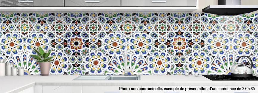 Cr dence pour cuisine et salle de bain carrelage orientale for Carrelage 65x65