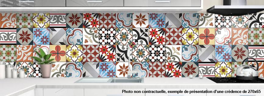 Cr dence alu pour cuisine carreaux de ciment couleur for Credence cuisine coloree