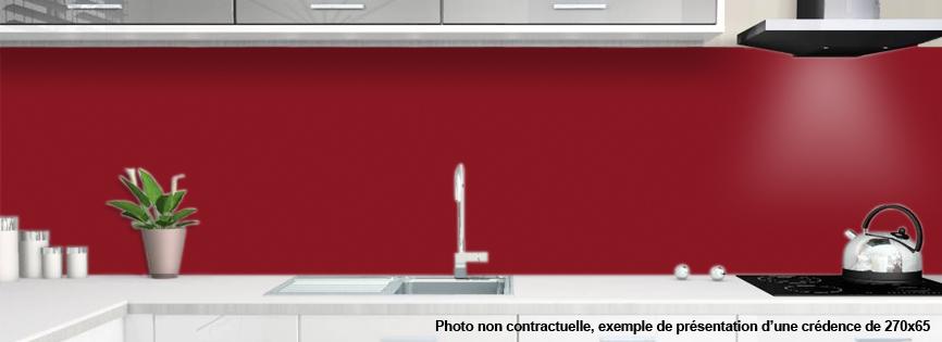 Cr dences rouge carmin pour cuisine alu ou verre de synthese - Cuisine couleur bordeaux ...