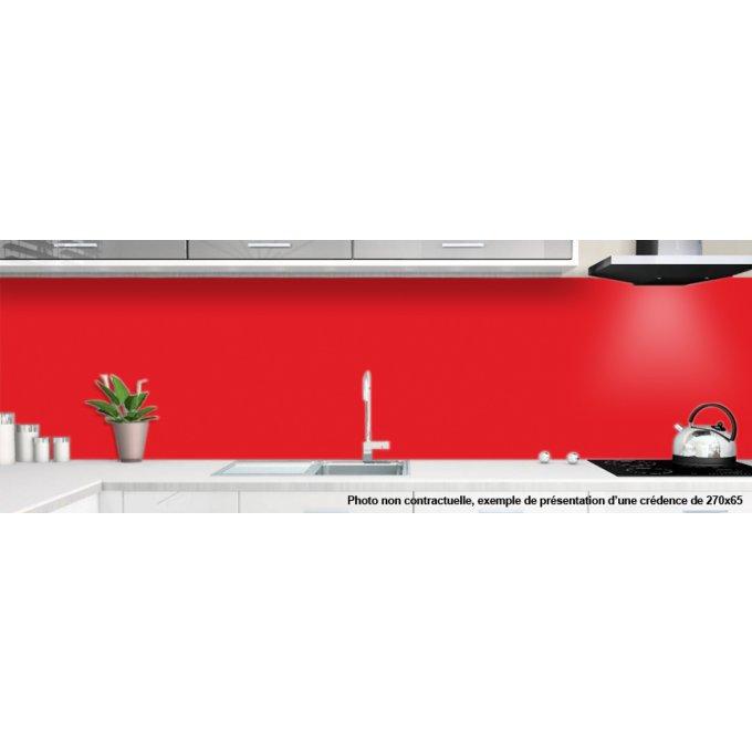 cr dences rouge pour cuisine alu ou verre de synthese. Black Bedroom Furniture Sets. Home Design Ideas