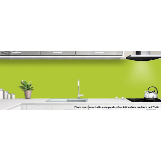 cr dences vert pomme pour cuisine alu ou verre de synthese. Black Bedroom Furniture Sets. Home Design Ideas