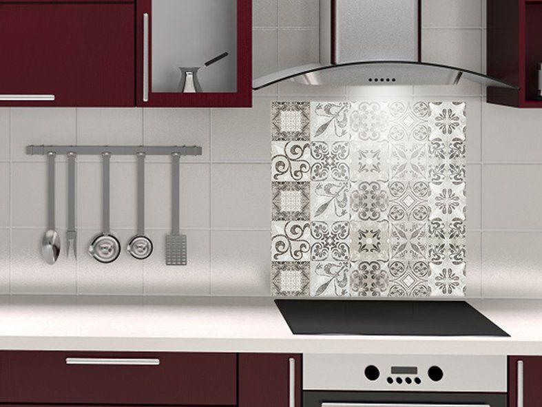 cr dence de cuisine d corative carreaux de ciment usure. Black Bedroom Furniture Sets. Home Design Ideas