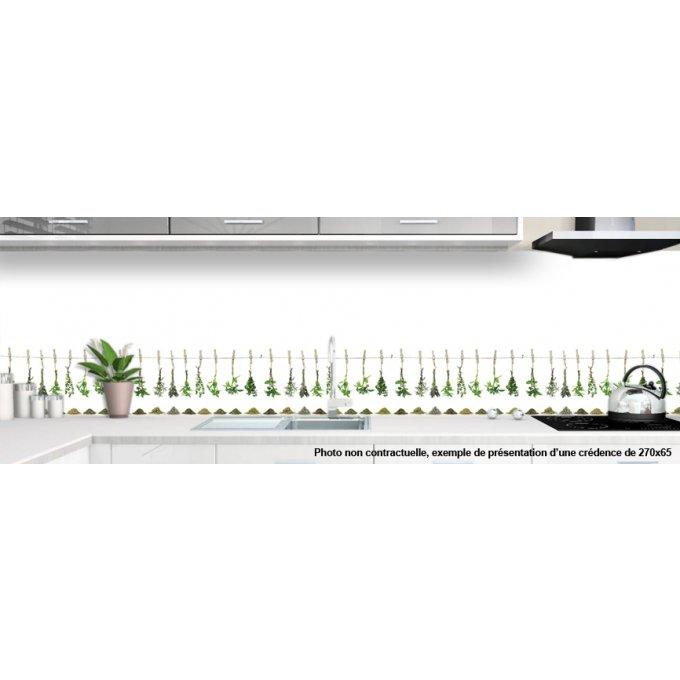 cr dence verre cuisine sur mesure herbes aromatiques. Black Bedroom Furniture Sets. Home Design Ideas