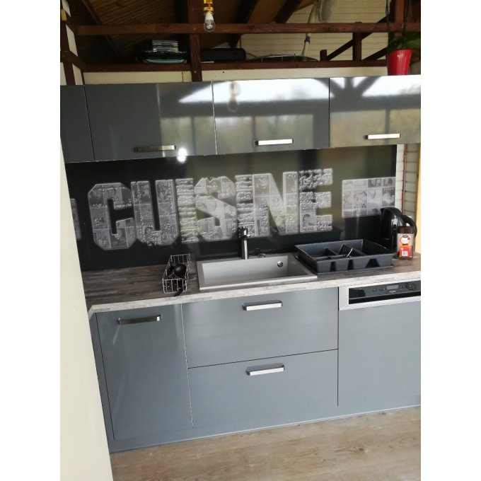 credence adhesive sur mesure affiches anciennes 3d. Black Bedroom Furniture Sets. Home Design Ideas