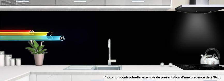 cr dence pour cuisine decoration pacman 2. Black Bedroom Furniture Sets. Home Design Ideas