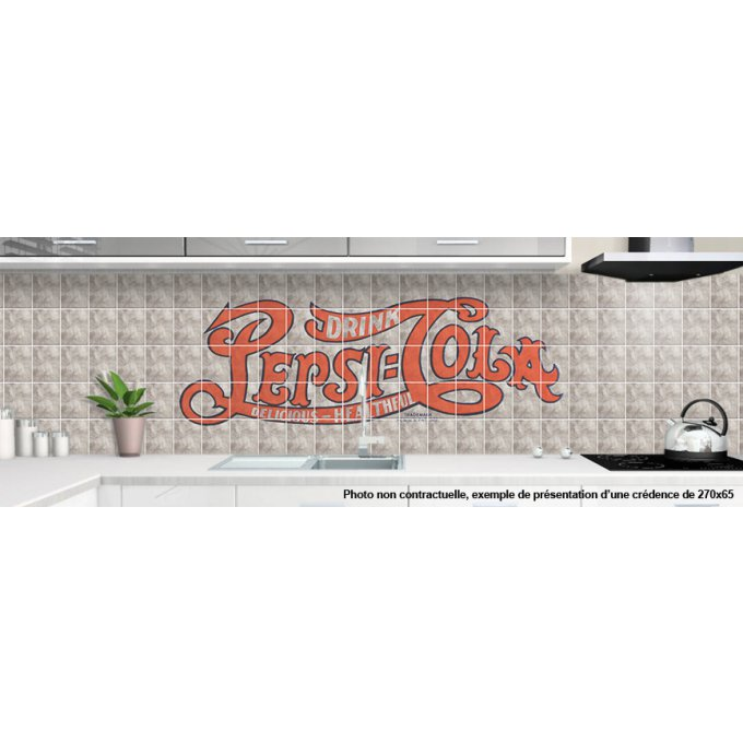 Credence adhesive sur mesure deco vintage for Credence a coller sur faience