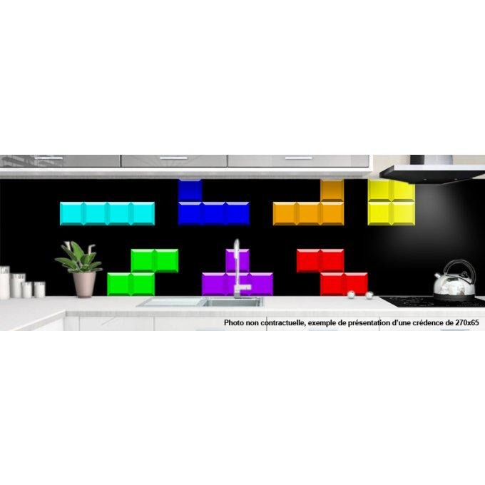 Cr dence pour cuisine decoration tetris 4 - Credence design impression ...