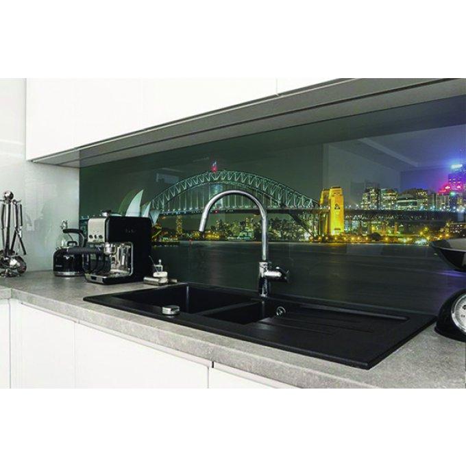 cr dence cuisine verre ou alu motif sydney 2. Black Bedroom Furniture Sets. Home Design Ideas