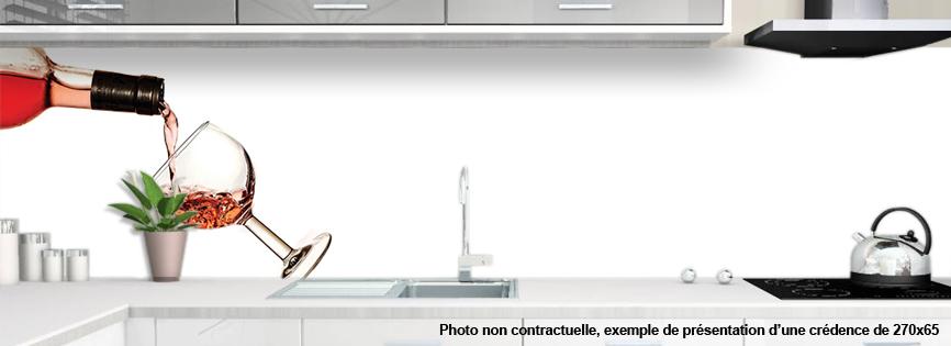 cr dence verre cuisine sur mesure motif vin 2. Black Bedroom Furniture Sets. Home Design Ideas