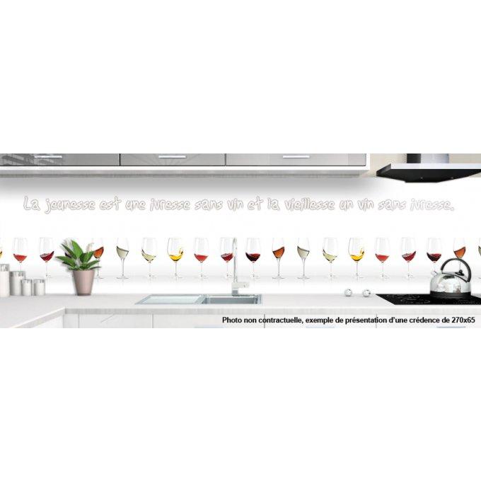 cr dence verre cuisine sur mesure motif vin 4. Black Bedroom Furniture Sets. Home Design Ideas