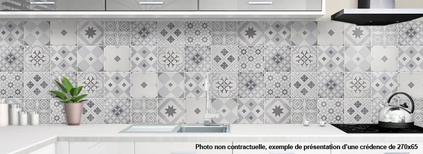Credence Aluminium Pour Cuisine Carreaux De Ciment 1