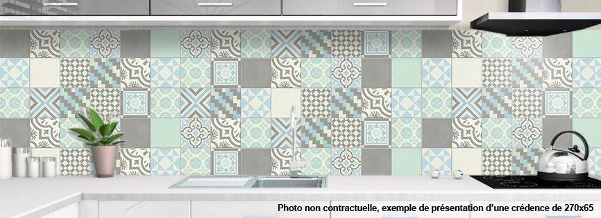 Cr dence de cuisine d corative carreaux de ciment belle epoque - Credence decorative cuisine ...