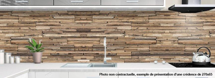 cr dence de cuisine en aluminium motif bois parker. Black Bedroom Furniture Sets. Home Design Ideas
