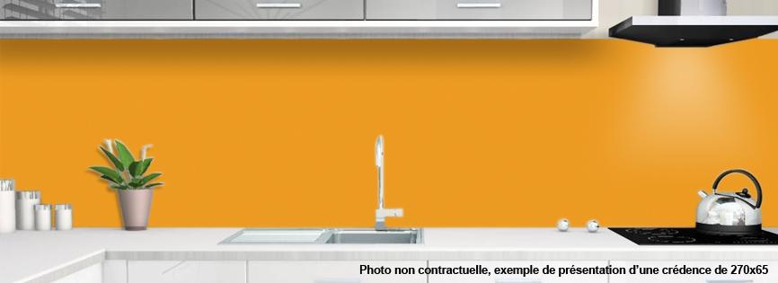 crédences orange pour cuisine | ALU OU VERRE DE SYNTHESE