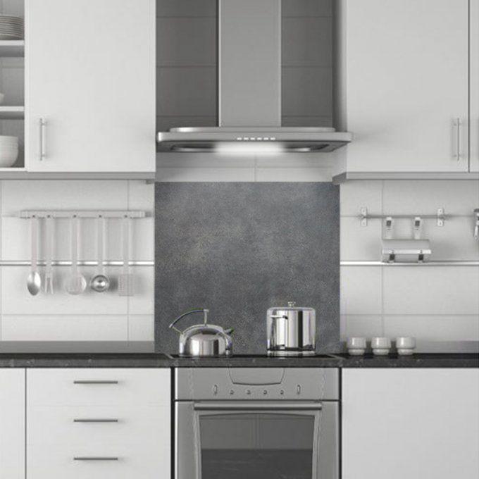 cr dence de cuisine en aluminium motif beton cire. Black Bedroom Furniture Sets. Home Design Ideas