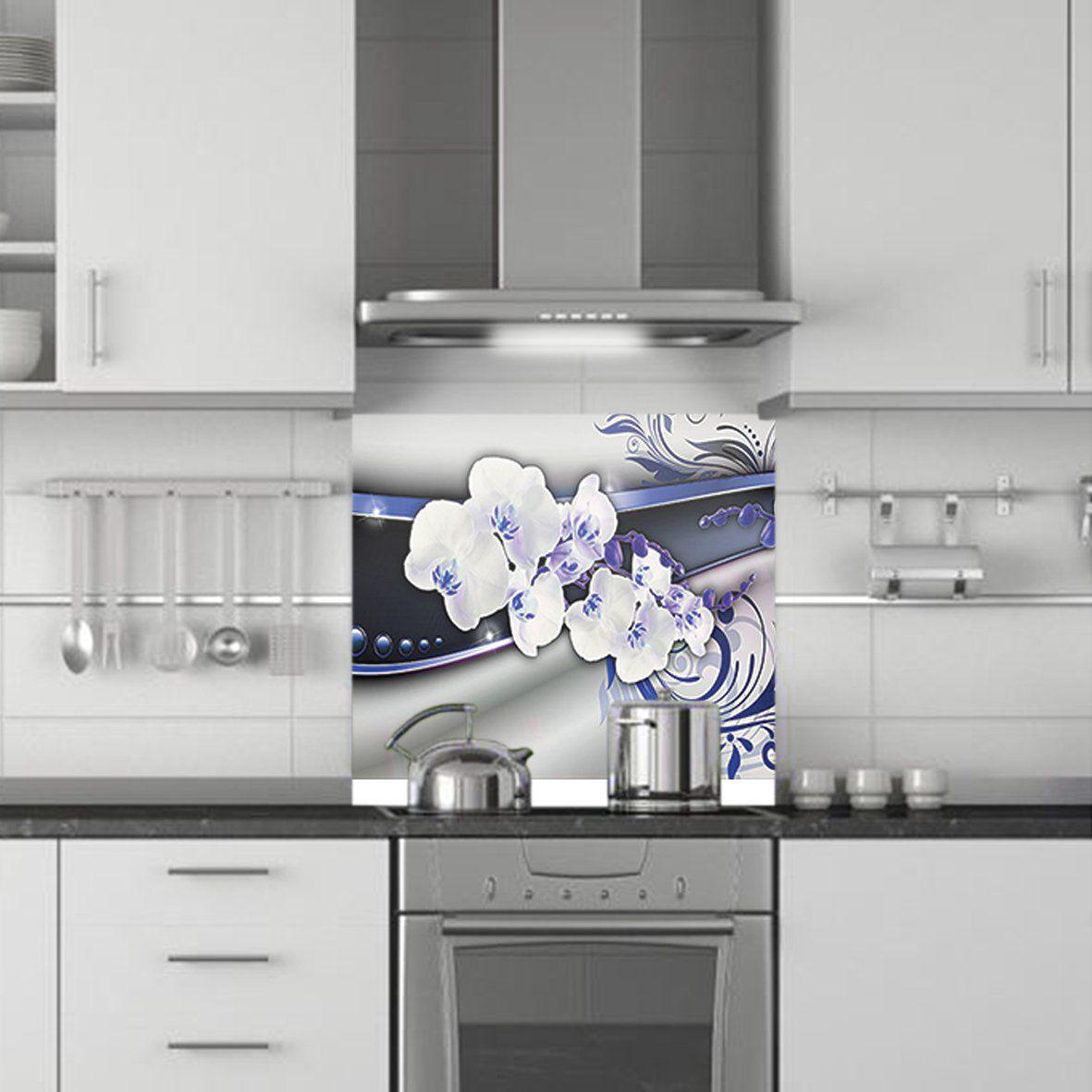 Cr dence de cuisine d corative orchidees - Credence decorative cuisine ...